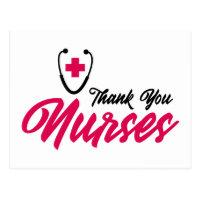 Thank You Nurses | Pink Postcard