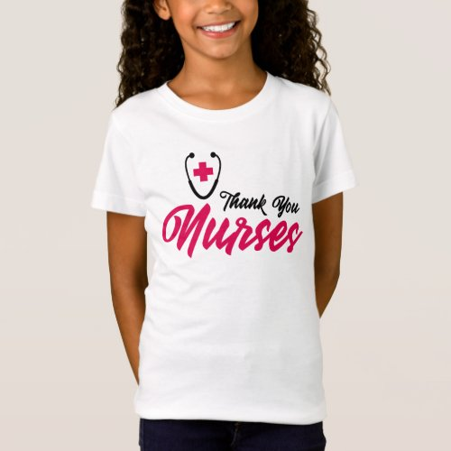 Thank You Nurses  Pink T_Shirt