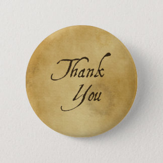 Thank you old vintage paper design button