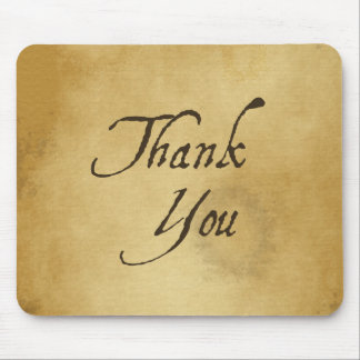 Thank you old vintage paper design mouse pad