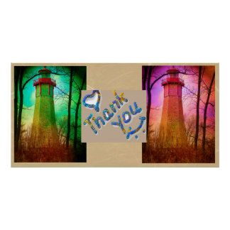 Thank You - Oldest Light House Toronto Island Poster