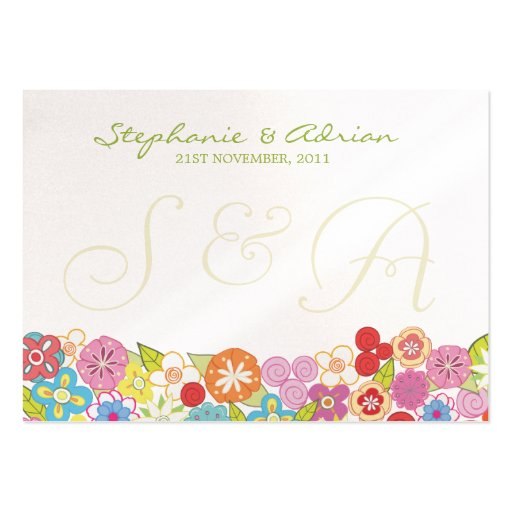 Thank You or Table Place Cards Summer Spring Large Business Cards (Pack Of 100)