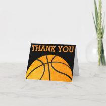Thank You Orange Basketball Sports Kids Orange