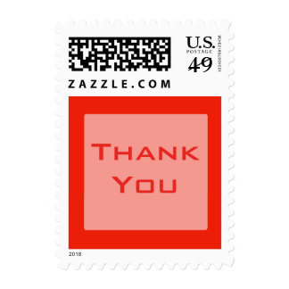 Thank You orange color Stamps