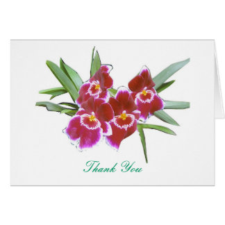 Thank You Orchids Spray Card