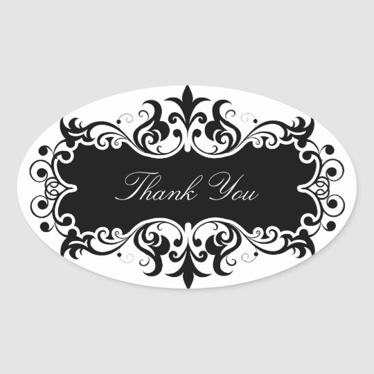 Thank You Oval Sticker