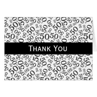 Thank You Over The Hill 50th Birthday Theme Card