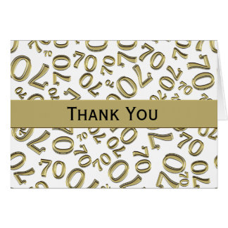 Thank You Over The Hill 70th Birthday Theme Card