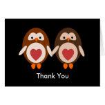 Thank you  Owl Love Card