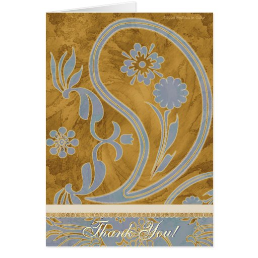 Thank You Paisley Elegance Card