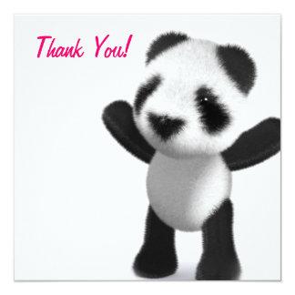Thank You! Panda Bear Pink Thankyou Card