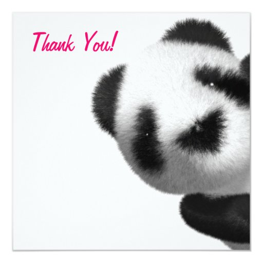 Thank You! Panda Peeps Pink Thankyou Announcements