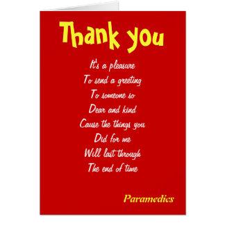 thank you paramedics cards