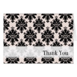 Thank You Paris Pink Damask Blank Notecard Stationery Note Card