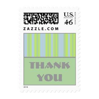 Thank You pastel stripes stamp