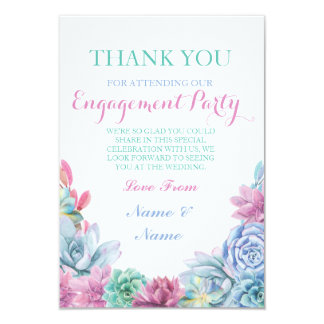 Thank You Pastels Rustic Succulents Cards