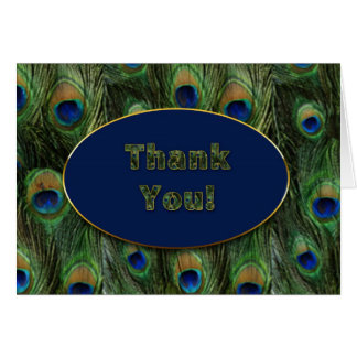 THANK YOU - PEACOCK FEATHERS CARD