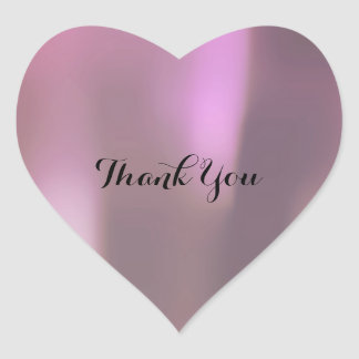 Thank You Pearly Purple Lilac Lavender Gray Heart Sticker