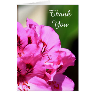 Thank You Pelargonium greeting card