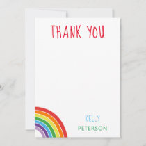 Thank You Personalized Rainbow Kids Party
