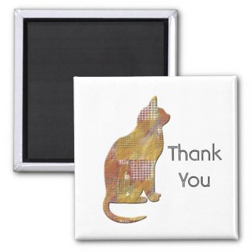 Thank You Pet Sitter Patchwork Country Cat Magnet