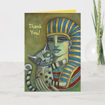 Thank You! Pharaoh and Cat Card
