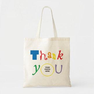 Thank you photo budget tote bag