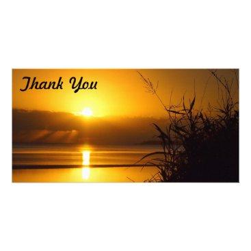 Beach Themed Thank You photo card - Coastal sunrise