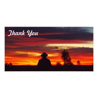 Thank You photo card - Julia Creek outback sunset