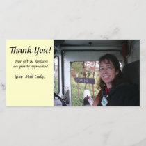 Thank You Photo Card - Mailman