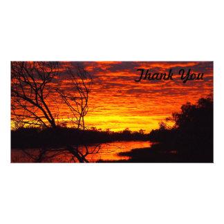 Thank You photo card - Thomson River sunrise
