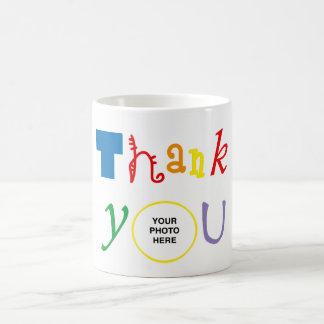 Thank you photo coffee mug