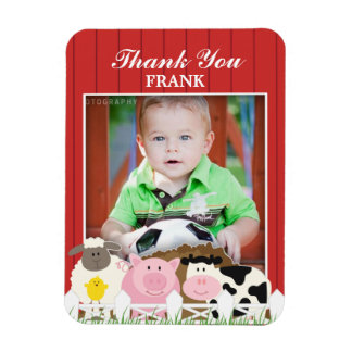 Thank You Photo Farm 3x4 inches Premium Magnet