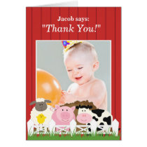 Thank You Photo Farm Card