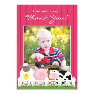 Thank You Photo Farm Flat Invitation