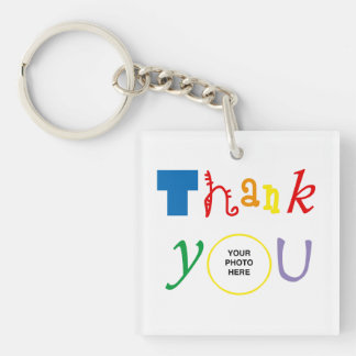 Thank you photo keychain