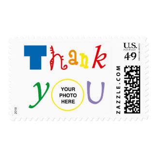 Thank you photo stamp