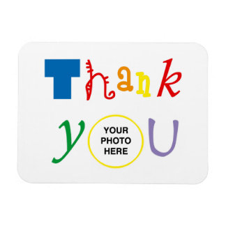 Thank you photo magnet