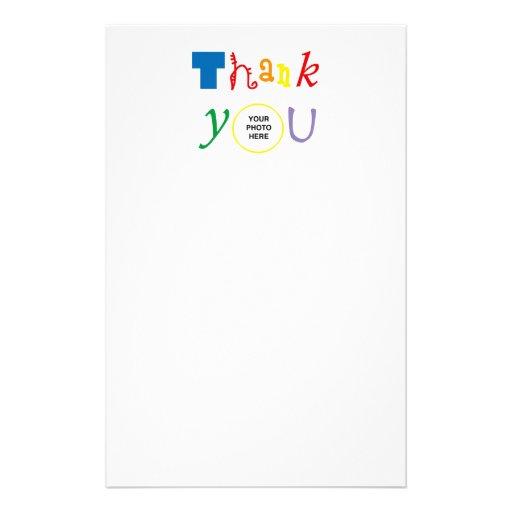 Thank you photo stationery