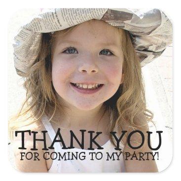 kat_parrella Thank You Photo Sticker for Kids Party