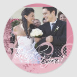 Thank You Photo Sticker (Grungy Floral)