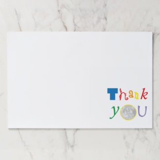 thank you photo template paper pad