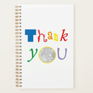 thank you photo template planner