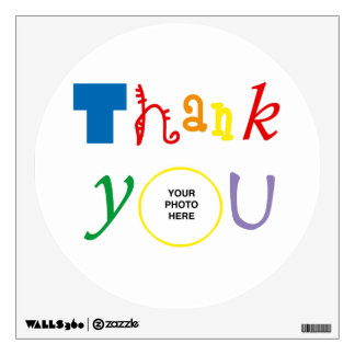 Thank you photo wall decal