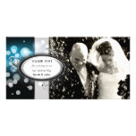 Thank You Photo Wedding Card Blue Bright Light Picture Card