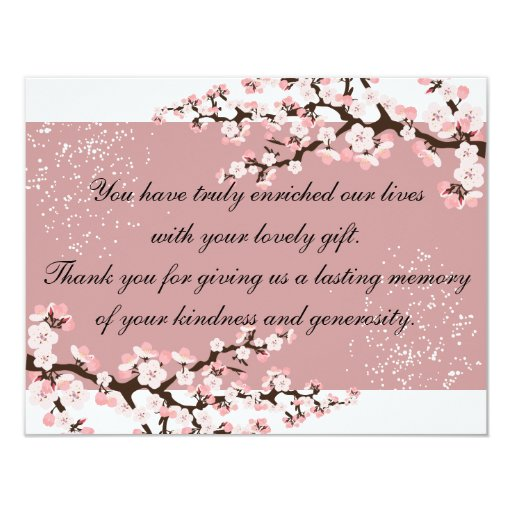 Cherry Blossoms Wedding Invitations with adorable invitation template