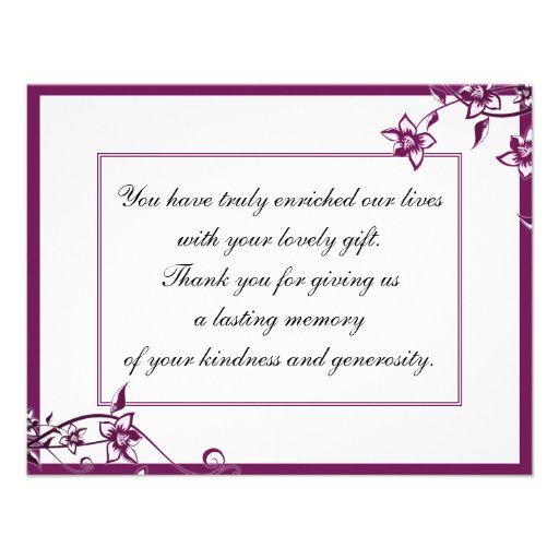 Thank You Photo Wedding Card Sangria White Blossom Personalized ...
