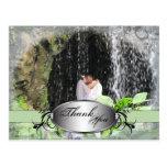 Thank You Photo Wedding Postcard Green Plaque