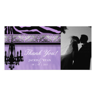 Thank You Photocard Chandelier Silver Purple Card