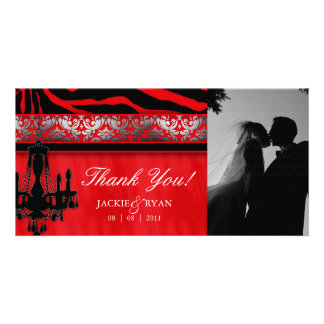 Thank You Photocard Chandelier Silver Red Card